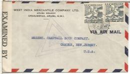 CURAÇAO CC A USA CENSURA USA Y HOLANDESA ARUBA 1943 - Curazao, Antillas Holandesas, Aruba