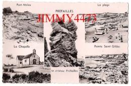 CPSM Dentelées - PREFAILLES - Multi Vues - 44 Loire Atlantique - Edit. F. Chapeau - Préfailles