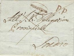 1836- Lettera Da MORBEGNO ( Voll;N° 4 ) Brx  Per Sondrio + P.P - Italy