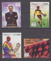 Ghana 29.11.2004 Mi # 3651-54 2004 Athens Summer Olympics MNH OG - Verano 2004: Atenas