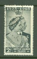 British Solomon Is: 1948   Royal Silver Wedding    SG75   2d    Used - British Solomon Islands (...-1978)