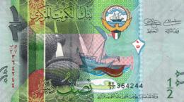 "KUWAIT 1/2 DINAR 2014 VF P-30a ""free Shipping Via Regular Air Mail (buyer Risk)"" - Kuwait"