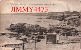 CPA - PREFAILLES - La Côte Saint Gildas Prise De La Plage - 44 Loire Atlantique - N° 81 - Edit. F. Chapeau Nantes - Préfailles