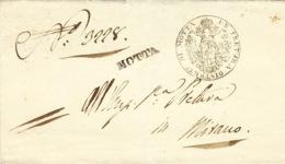 1844- Lettera Da MOTTA ( Voll. N°4 ) Nero - Per Mirano - Italy