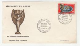 Congo Brazzaville 1966 Coupe Du Monde De Football FDC B191003 - FDC