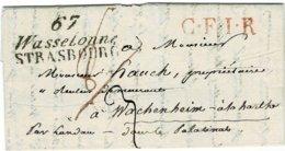 "1821, "" 67 Wasselone STRASBOURG ""   , A2405 - Elsass-Lothringen"