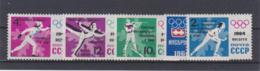 Soviet 1964 Innsbruck Olympic Games 5 Stamps MNH/** (H50) - Winter 1964: Innsbruck