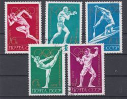 Soviet 1972 München Olympic Games 5 Stamps Used (H50) - Summer 1972: Munich