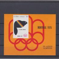 Cuba 1976 Montreal Olympic Games Souvenir Sheet MNH/** (H50) - Summer 1976: Montreal