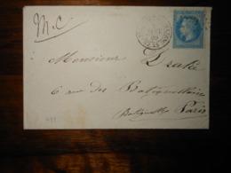 Enveloppe GC 935 Chateauneuf De Mazenc Drome - 1849-1876: Période Classique