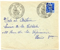 MARINE = PARIS 1951 = CACHET GRAND FORMAT Illustré Musée Postal - Marcofilia (sobres)