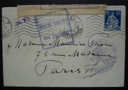 Basel 2 Suisse (Bâle) 1915 Contrôle Postal Pontarlier, Ministère Guerre, Ouverte Par L'autorité Militaire (censure) - Postmark Collection