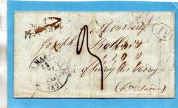 """Cursive """"VRECOURT"""" (Vosges) Associée Au C12 LA MARCHE,L.A.C. Du 11/7/41. - 1801-1848: Precursori XIX"""