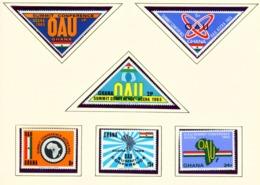GHANA  -  1965 OAU Set Unmounted/Never Hinged Mint - Ghana (1957-...)