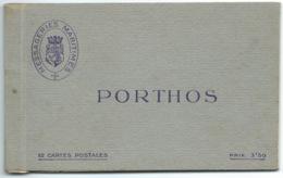 CARNET DE 12 CARTES POSTALES DETACHABLES / PAQUEBOT PORTHOS / SEULEMENT 5 CARTES - Paquebots