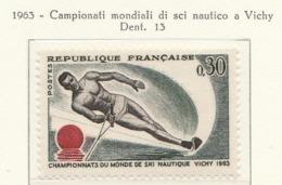 PIA  - FRANCIA  -  1963  :  Campionato Del Mondo Di Sci Nautico A Vichy  - (Yv  1395) - Ski Nautique