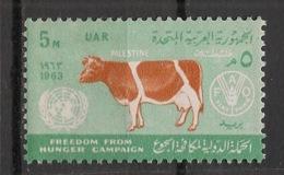 Palestine - Egypt Occupation - 1963 - N°Yv. 92 - Vache / Cow - Neuf Luxe ** / MNH / Postfrisch - Koeien