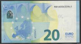 € 20  AUSTRIA  NB N008  DRAGHI  UNC - EURO