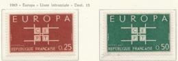 PIA - FRANCIA  - 1963  :  Europa  -  (Yv  1396-97) - Europa-CEPT