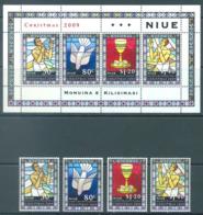 NIUE  - 2009 - MNH/***   - CHRISTMAS - Yv 916-919 BLOC 159 - Lot 20406 - Niue
