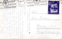 "(2WK-2) Generalgouvernement Besetzung Polen Foto-Ansichtskarte ""Zakopane"" EF Mi 67 NSDAP WSt 20.11.1942 Zakopane - Occupation 1938-45"