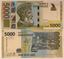 Albania 5000 Leke P-new 2019 UNC Banknote - Albanien