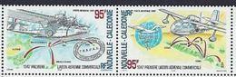 "Nle-Caledonie Aerien YT 345 & 346 Paire (PA) "" Liaison Aérienne "" 1997 Neuf** - Luftpost"