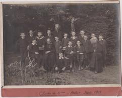 Photo Autun (71) Classe De 6ème Juin 1919 Pretres Clergé Statue De La Vierge - Lugares