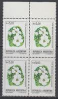 Argentina 1983 Flor Malvinense / Falkland Flower 1v Bl Of 4 ** Mnh (44946A) - Argentinië