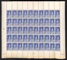 NN - NB - [98580]TB//**/Mnh-NN- France 1940, N° 473, 2F50 Outremer Maréchal Pétain, La Feuille Complète (brunie En-desso - 1941-42 Pétain
