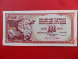 Yugoslavia-Jugoslavija 100 Dinara 1981, P-90b, Interesting Number, Second Note Is Gift - - - 100160 - - - - Jugoslavia