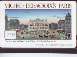 Télécarte Japon * PEINTURE FRANCE * MICHAEL DE LA CROIX'S PARIS  * ART (2589) Japan * Phonecard * KUNST TELEFONKARTE - Pittura