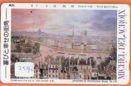 Télécarte Japon * PEINTURE FRANCE * MICHAEL DE LA CROIX  * ART (2590) Japan * Phonecard * KUNST TELEFONKARTE - Pintura