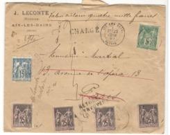 22998 - 6 TP Sage - Marcophilie (Lettres)