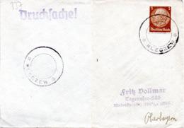 """(2WK-2) Generalgouvernement Besetzung Polen Vorläufer Brief Aptierter Stempel """"KLECZEW"""" EF DR Mi 514 Nach Tegernsee - Besetzungen 1938-45"""