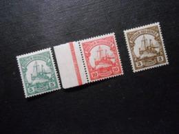 D.R.21 Ll*MLH/ 22 Ll*MNH/ 24*MLH - Deutsche Kolonien (Deutsch-Neuguinea) 1914/1918 - Mi 8,00 € - Colony: German New Guinea