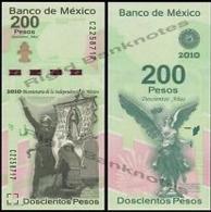 MEXICO. 200 PESOS, 2008 (2010) P-129 . COMMEMORATIVE. BICENTENARY OF INDEPENDENCE. UNC/NEUF - Messico