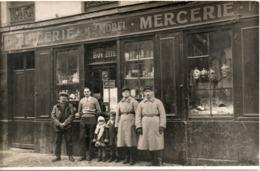CARTE PHOTO EPICERIE  MERCERIE MOREL  CARTE TRES RARE - St. Cyr L'Ecole