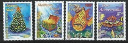 """Nle-Caledonie YT 779 à 782 """" Timbres De Souhaits """" 1998 Neuf** - Nouvelle-Calédonie"""