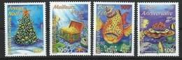 "Nle-Caledonie YT 779 à 782 "" Timbres De Souhaits "" 1998 Neuf** - Nueva Caledonia"