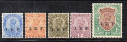 APR3072 - INDIA 1914, Cinque Valori IEF * Linguella (2380A) . - India (...-1947)