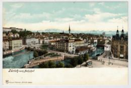 C.P.  PICCOLA   ZURICH    VOM  BAHNHOF          2 SCAN     (NUOVA) - ZH Zurich