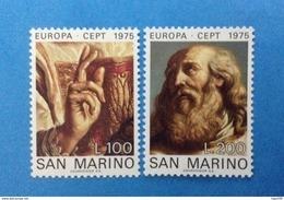1975 SAN MARINO FRANCOBOLLI NUOVI STAMPS NEW MNH** EUROPA CEPT DIPINTO QUADRO DEL GUERCINO - Nuovi
