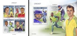 Sierra Leone 2019, Sport, Cricket, 4val In BF +BF - Cricket