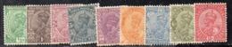 APR3074 - INDIA 1927, 9 Valori Linguellati (2380A).Multi  Star - India (...-1947)