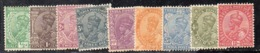 APR3074 - INDIA 1927, 9 Valori Linguellati (2380A).Multi  Star - 1911-35 King George V