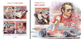 Sierra Leone 2019, Sport, Niki Lauda, 4val In BF +BF - Cars