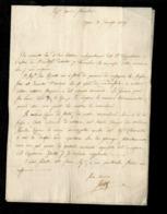 Documento Antico Reggimento Dalmata ARMEE DALMATA – Lettera Con Firma Maggiore Gheltof Spiridione E Luigi Vaccari Reggim - Documenti Storici