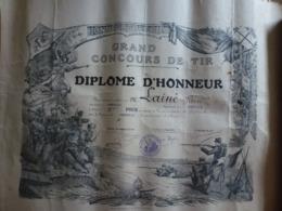 Diplôme Grand Concours De Tir Méréville 91 Essonne 1913 - Documenti Storici