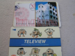 2 X Singapore Used GPT  Cards Teleview/ Heritage  147SIGD/4STEB - Singapur